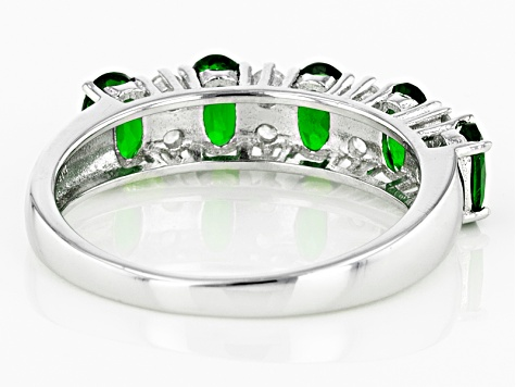 Green Chrome Diopside Sterling Silver Ring 1.66ctw