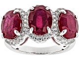 Mahaleo Ruby Sterling Silver Ring 7.60ctw