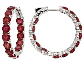 Mahaleo(R) Red Ruby Sterling Silver Earrings 19.00ctw