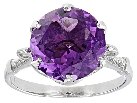 a9ba9e0e6 Purple Amethyst Sterling Silver Ring 5.00ct - DOCX805 | JTV.com
