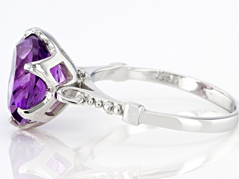 Purple Amethyst Sterling Silver Ring 5.00ct