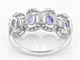 Blue Tanzanite Sterling Silver Ring 3.00ctw