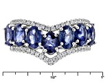 Mahaleo Sapphire Sterling Silver Ring 4.92ctw