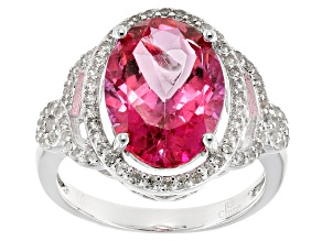 Pink Danburite Sterling Silver Ring 8.89ctw