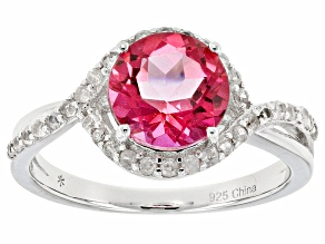 Pink Danburite Sterling Silver Ring 2.78ctw