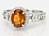Red Hessonite Sterling Silver Ring 2.67ctw