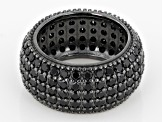 Black Spinel Sterling Silver Ring 5.25ctw
