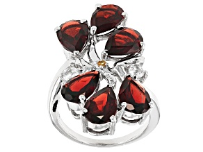 Red Garnet Sterling Silver Ring 8.00ctw