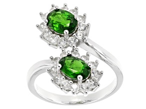 Green Chrome Diopside Sterling Silver Ring 2.79ctw