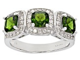 Green Chrome Diopside Sterling Silver Ring 2.37ctw