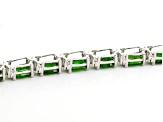 Green Chrome Diopside Sterling Silver Bracelet 17.88ctw