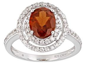 Orange Hessonite Sterling Silver Ring 3.00ctw