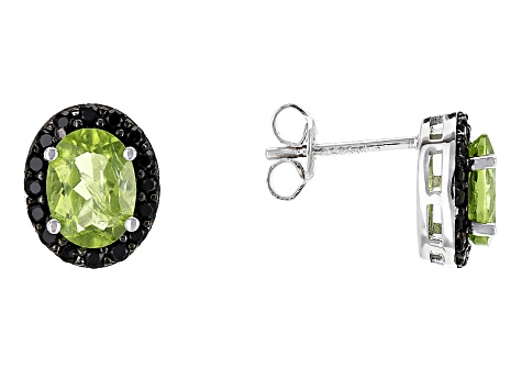 Green Peridot Sterling Silver Earrings 3.40ctw