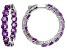Purple Amethyst Sterling Silver Earrings 12.00ctw