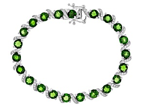Green Chrome Diopside Sterling Silver Bracelet 15.50ctw