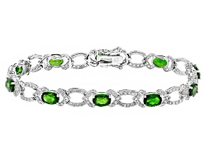 Green Chrome Diopside Sterling Silver Bracelet 10.50ctw