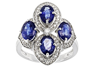 Mahaleo Sapphire Sterling Silver Ring 4.35ctw