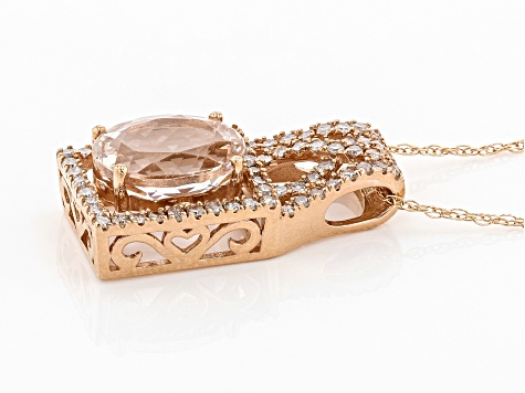 Pink Morganite 14k Rose Gold Pendant With Chain 1.90ctw