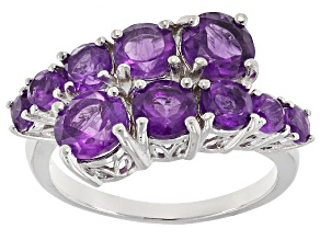 Purple Amethyst Sterling Silver Ring 2.70ctw