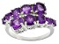 Purple Amethyst Sterling Silver Ring 2.70ctw