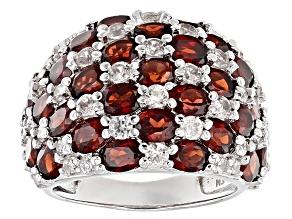 Red Garnet Sterling Silver Ring 8.85ctw