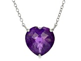 Purple African Amethyst Sterling Silver Necklace 4.25ctw