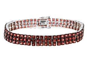 Red Garnet Sterling Silver Bracelet 21.00ctw