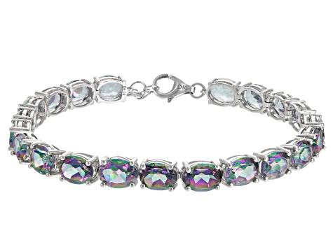 Multicolor Topaz Sterling Silver Tennis Bracelets 28 00ctw