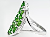 Green Chrome Diopside Sterling Silver Ring 2.98ctw