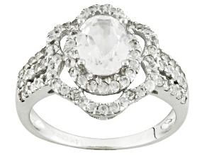 White Danburite 14k White Gold Ring 2.45ctw