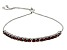 Red Garnet Sterling Silver Adjustable Bracelet 2.70ctw