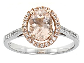 Pink Morganite 10k Two Tone Ring 1.61ctw