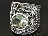 Green Prasiolite Sterling Silver Ring 3.42ct