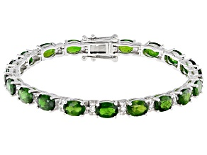 Green Chrome Diopside Sterling Silver Bracelet 15.15ctw
