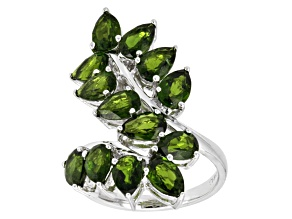 Green Chrome Diopside Sterling Silver Ring 5.81ctw