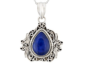 Blue Lapis Sterling Silver Pendant