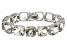 Green Prasiolite Sterling Silver Line Bracelet 82.50ctw