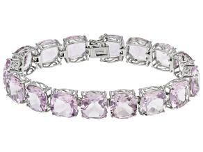 Lavender Amethyst Sterling Silver Bracelet 76.00ctw