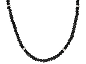 Black Spinel Sterling Silver Necklace 50.10ctw