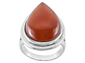 Red Carnelian Sterling Silver Ring