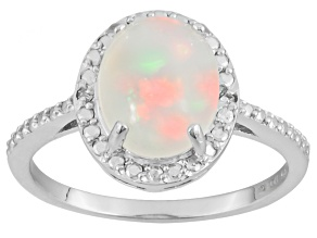Ethiopian Opal Sterling Silver Ring 1.61ctw
