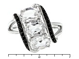 White Danburite Sterling Silver Ring 2.22ctw