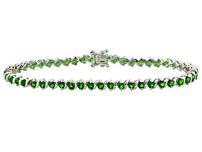 Green Chrome Diopside Sterling Silver Bracelet 5.80ctw