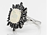 Ethiopian Opal Sterling Silver Ring 2.35ctw