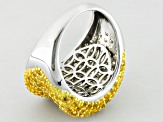 Yellow Citrine Sterling Silver Ring 3.50ctw