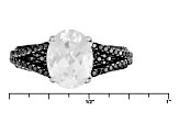 White Danburite Sterling Silver Ring 2.85ctw