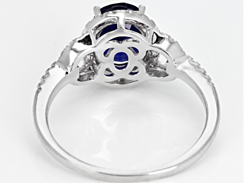 Mahaleo Sapphire Sterling Silver Ring 2.62ctw