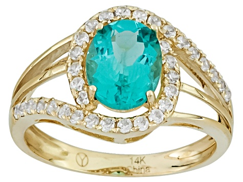 Blue Apatite 14k Yellow Gold Ring 1.94ctw