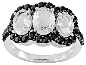 White Goshenite Sterling Silver Ring 3.25ctw