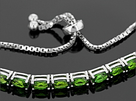 Green Chrome Diopside Sterling Silver Bracelet 2.80ctw